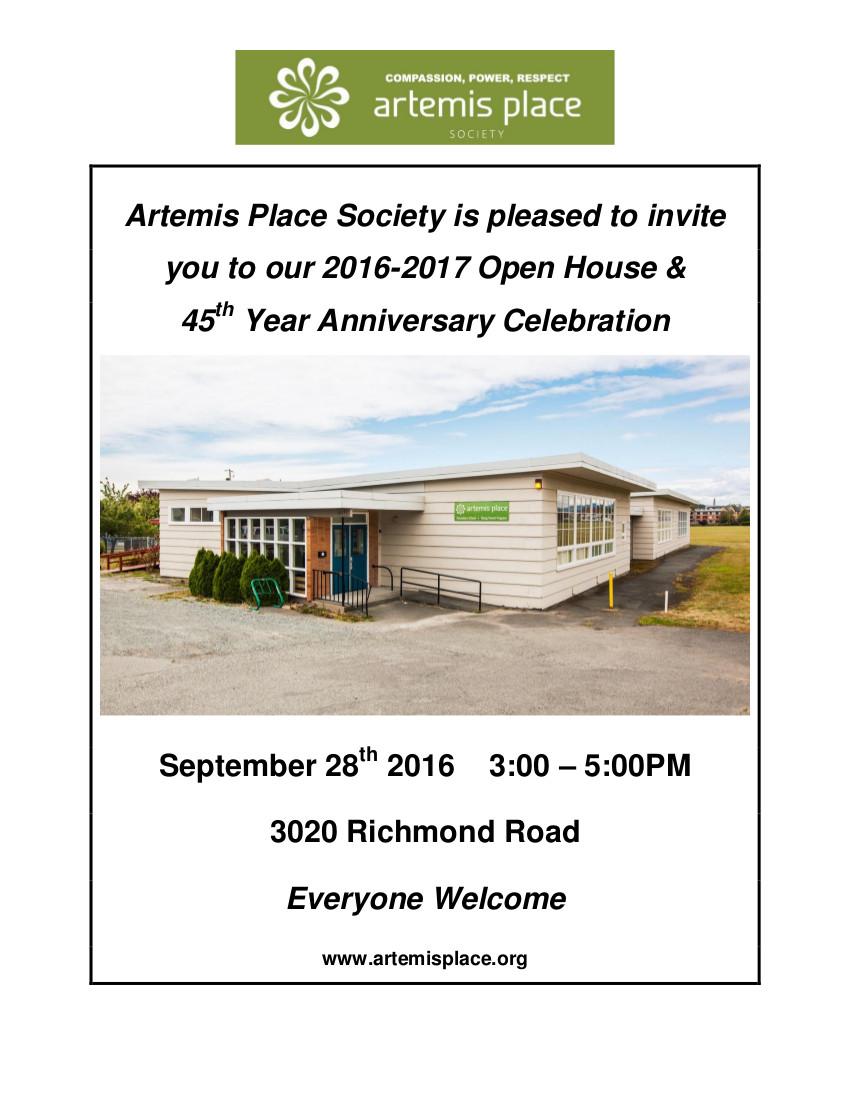 Artemis Place Open House